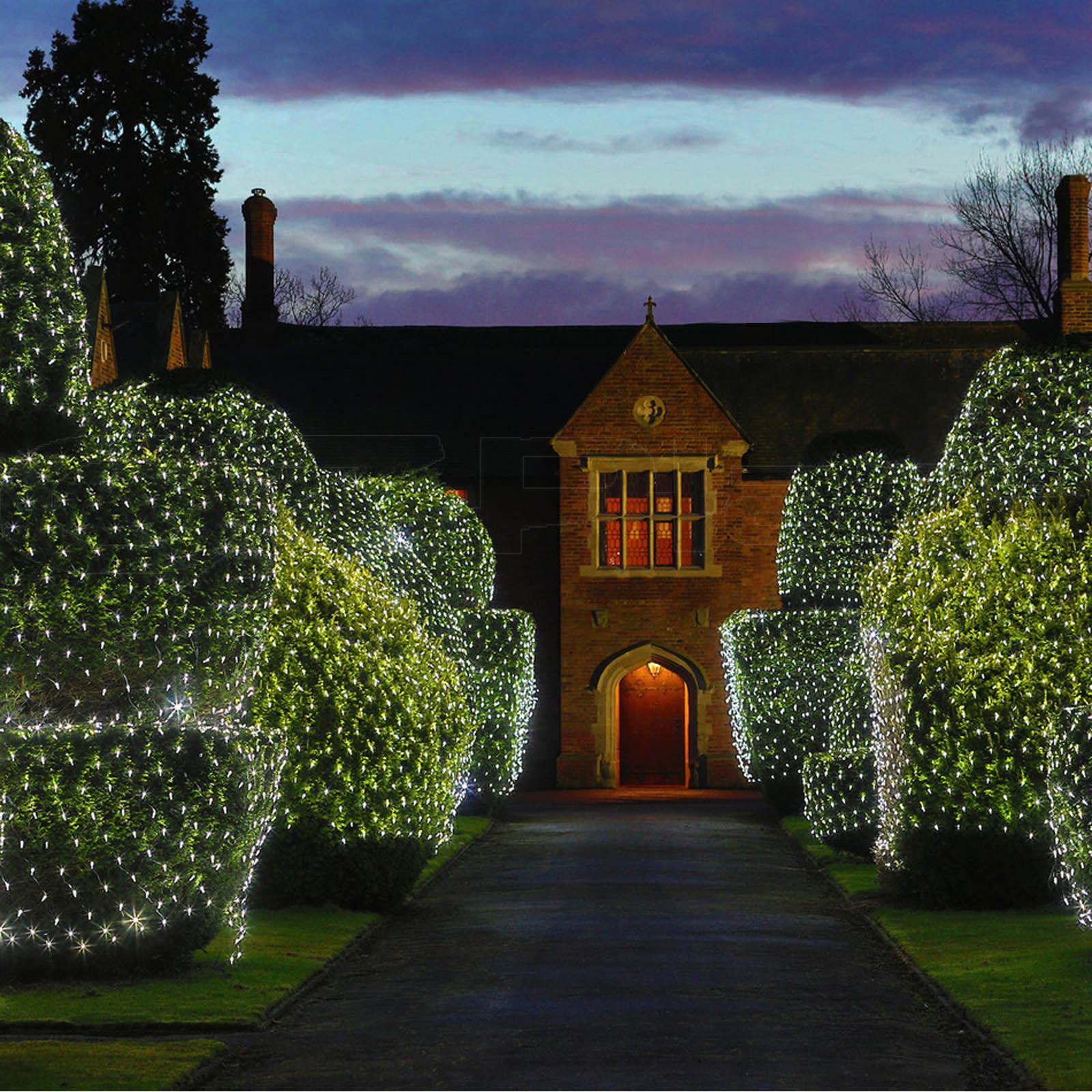 christmas outdoor net lights photo - 9