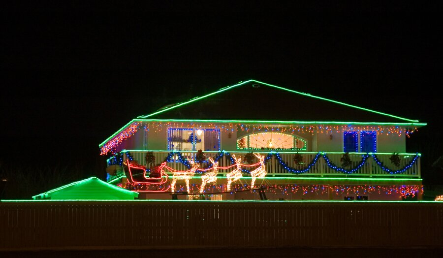 christmas outdoor rope lights photo - 8