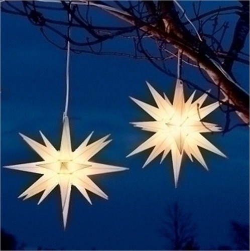 christmas outdoor star lights photo - 1
