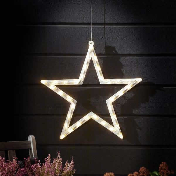 christmas outdoor star lights photo - 10