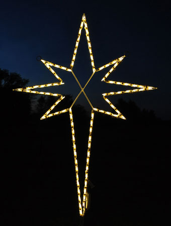 christmas outdoor star lights photo - 2