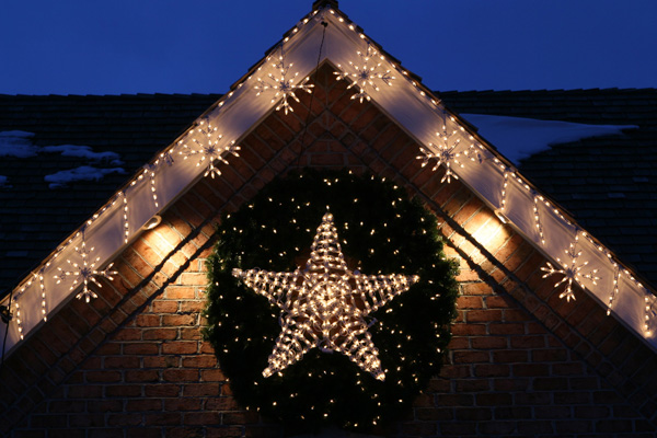 christmas outdoor star lights photo - 5