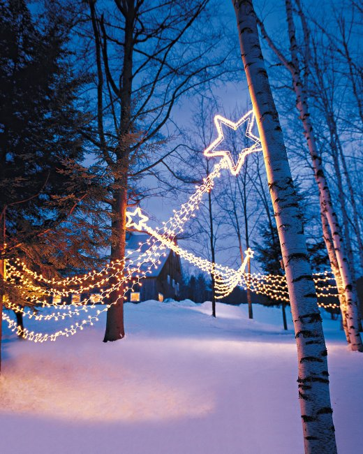 christmas outdoor star lights photo - 8