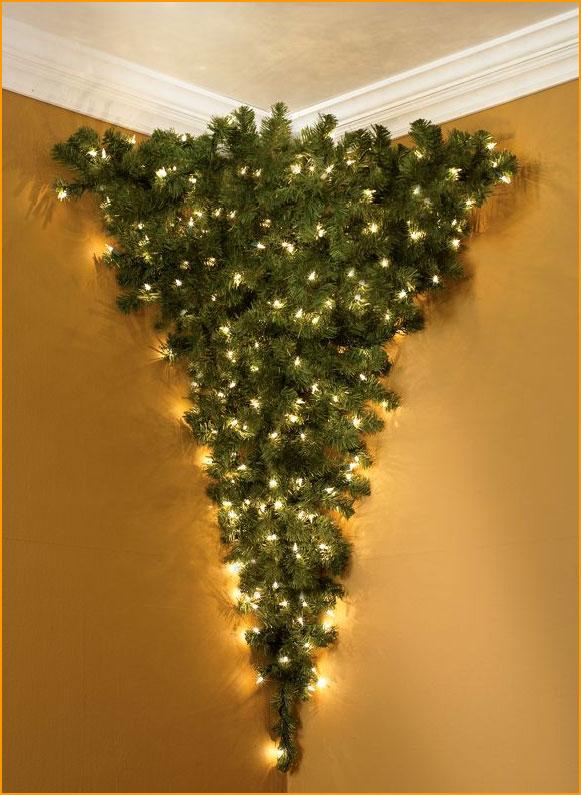 christmas tree of lights on wall photo - 4