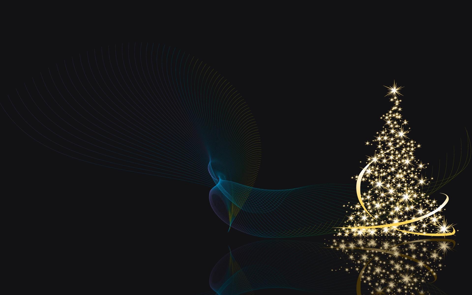 christmas tree on wall with lights photo - 4