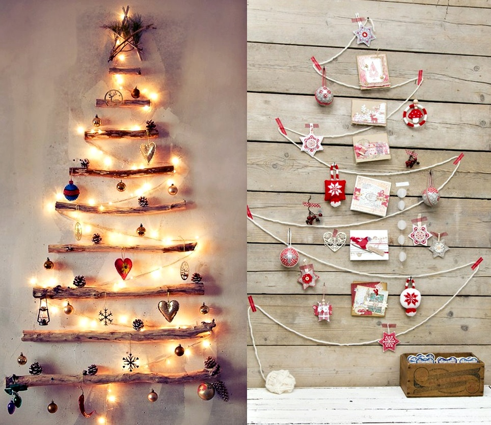 christmas tree wall lights photo - 1