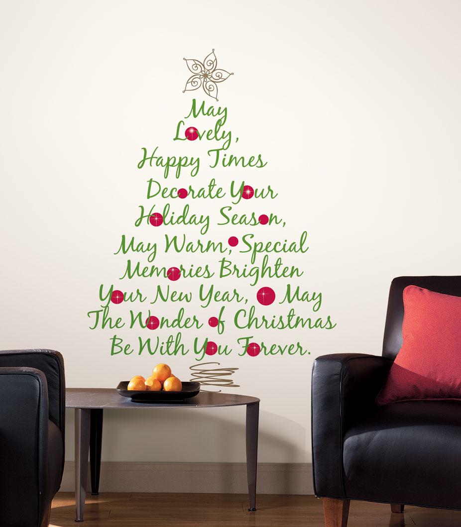 christmas tree wall lights photo - 10
