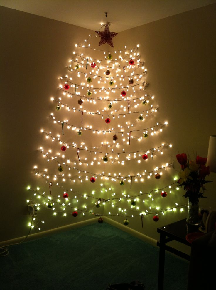 christmas tree wall lights photo - 7