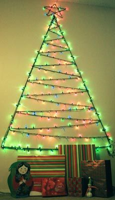 christmas tree wall lights photo - 9