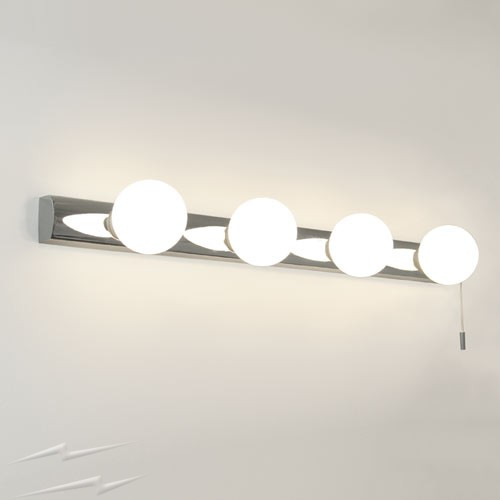 chrome bathroom wall lights photo - 10