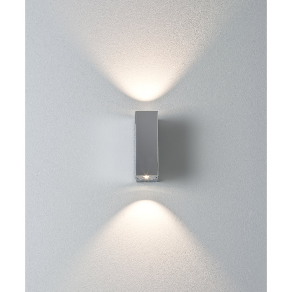 chrome wall lights photo - 2