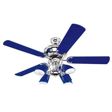 cobalt blue ceiling fan photo - 1