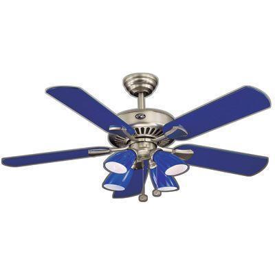 cobalt blue ceiling fan photo - 2