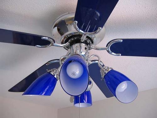 cobalt blue ceiling fan photo - 3