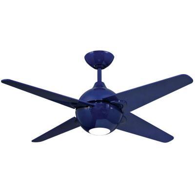 cobalt blue ceiling fan photo - 4