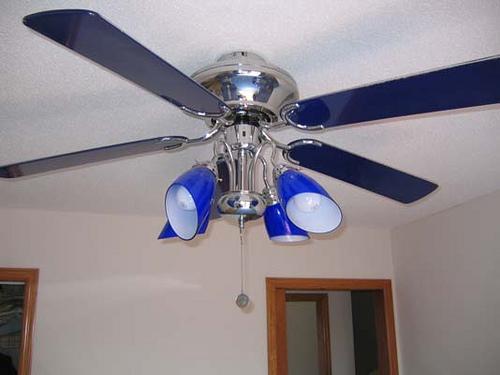 cobalt blue ceiling fan photo - 5