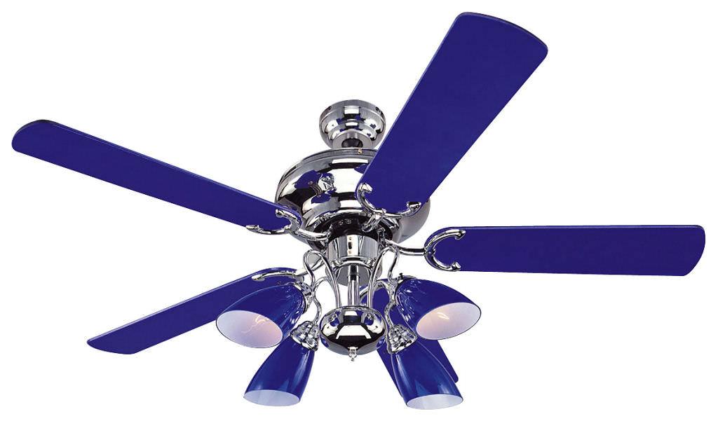 cobalt blue ceiling fan photo - 6
