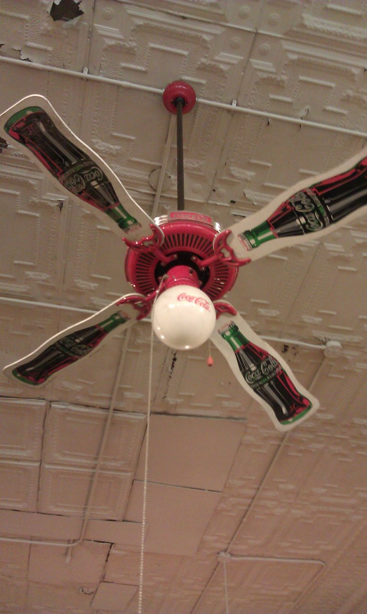 Coca cola ceiling fans tips for buyers warisan lighting coca cola ceiling fans photo 8 aloadofball Gallery
