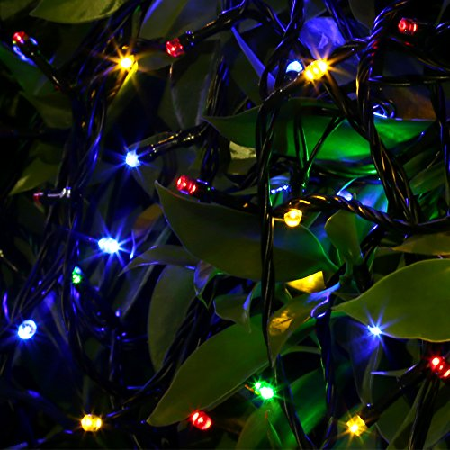 color changing christmas lights outdoors photo - 8
