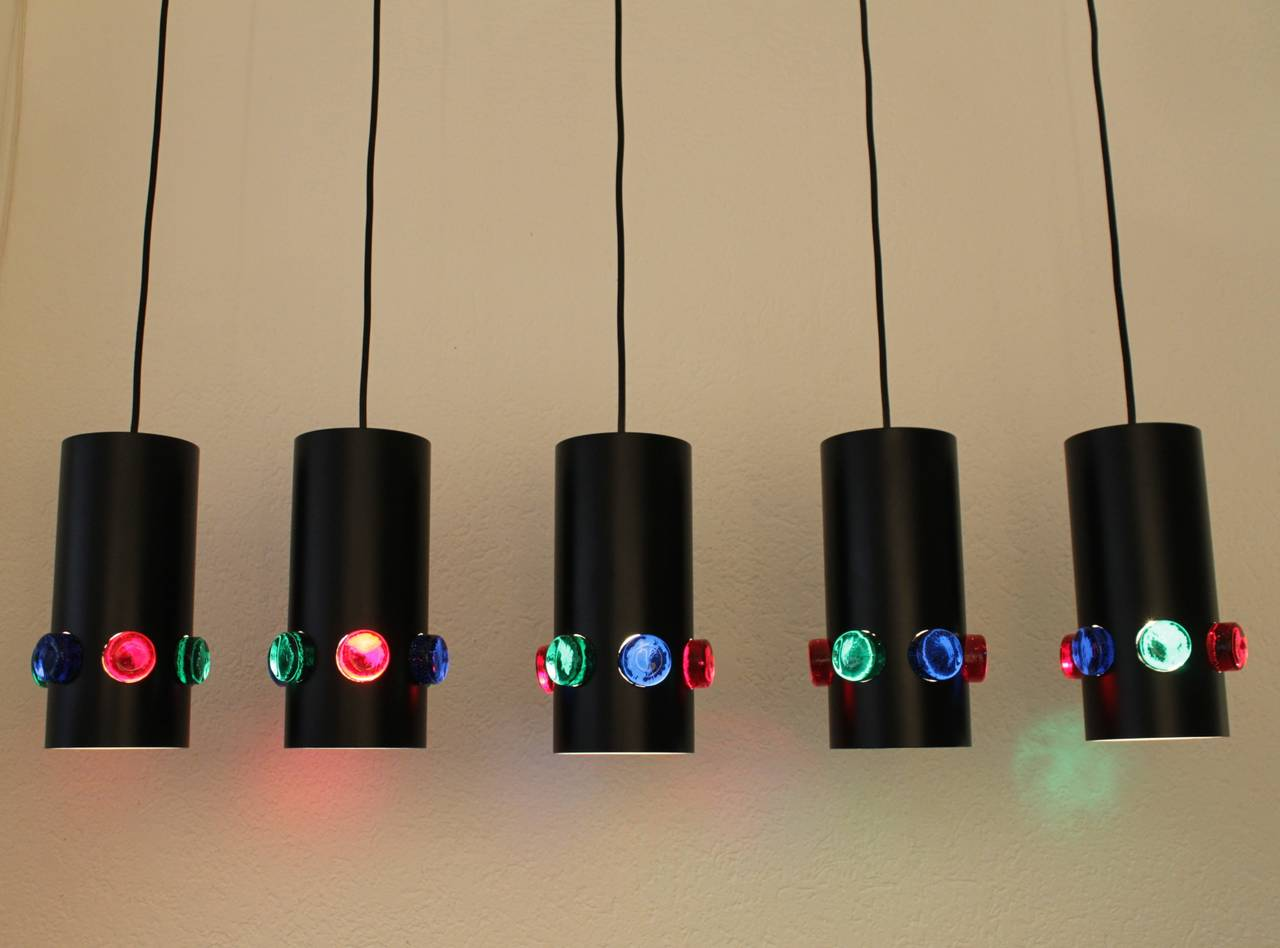 colored glass lamps photo - 10