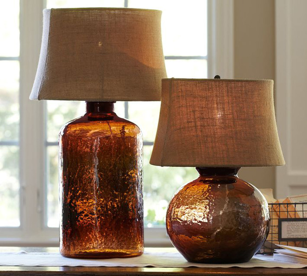 colored glass lamps photo - 3