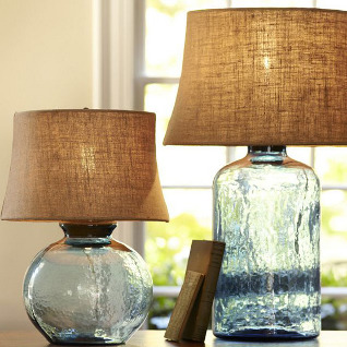 colored glass lamps photo - 5