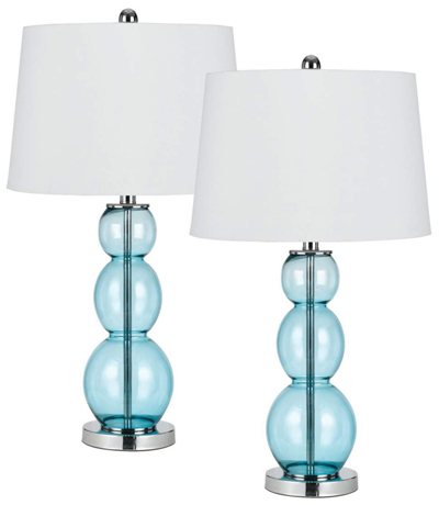 colored glass lamps photo - 8