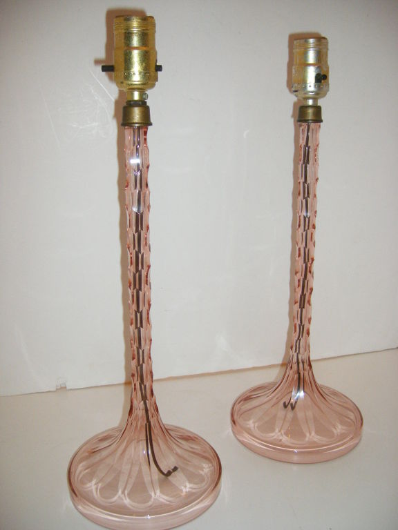 colored glass table lamps photo - 10