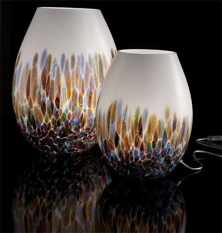 colored glass table lamps photo - 5
