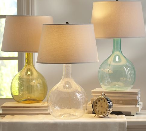 Lovely Colored Glass Table Lamps Photo   9