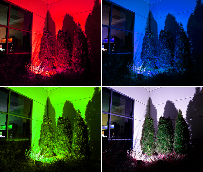 colored outdoor flood lights photo - 10