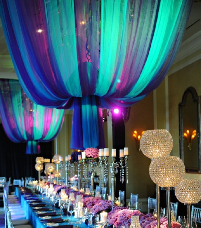 colorful ceiling lights photo - 1