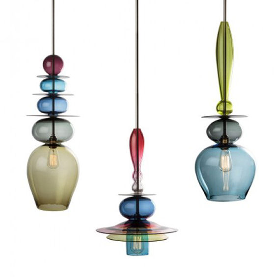 coloured glass ceiling lights photo - 1