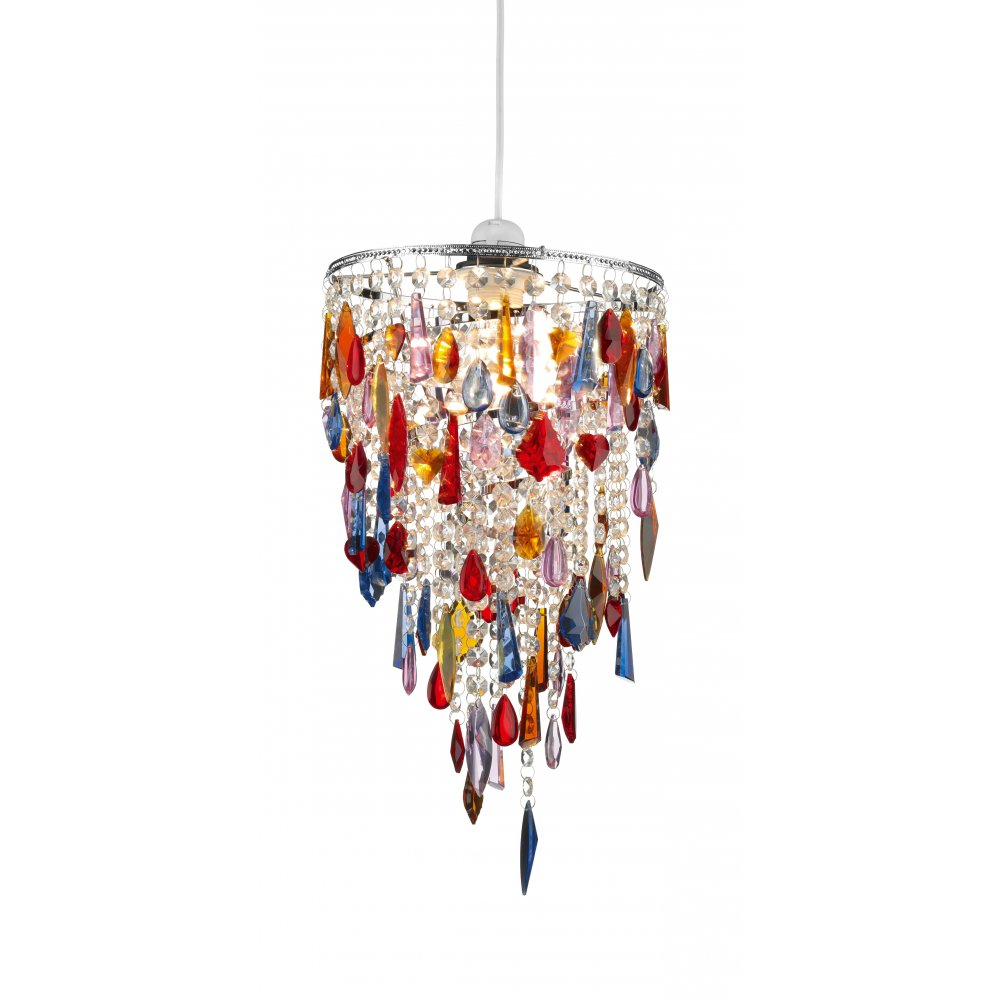 coloured glass ceiling lights photo - 2