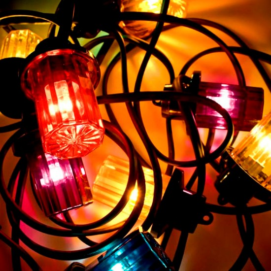 coloured outdoor lights photo - 10