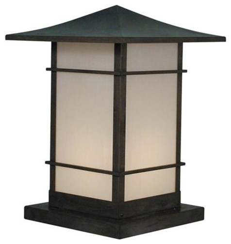 column mount outdoor lights photo - 5