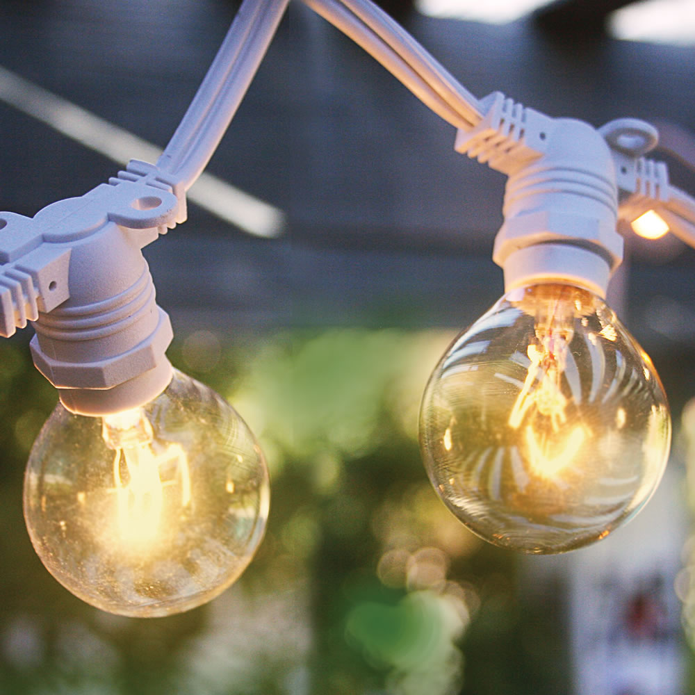commercial outdoor globe string lights photo - 10
