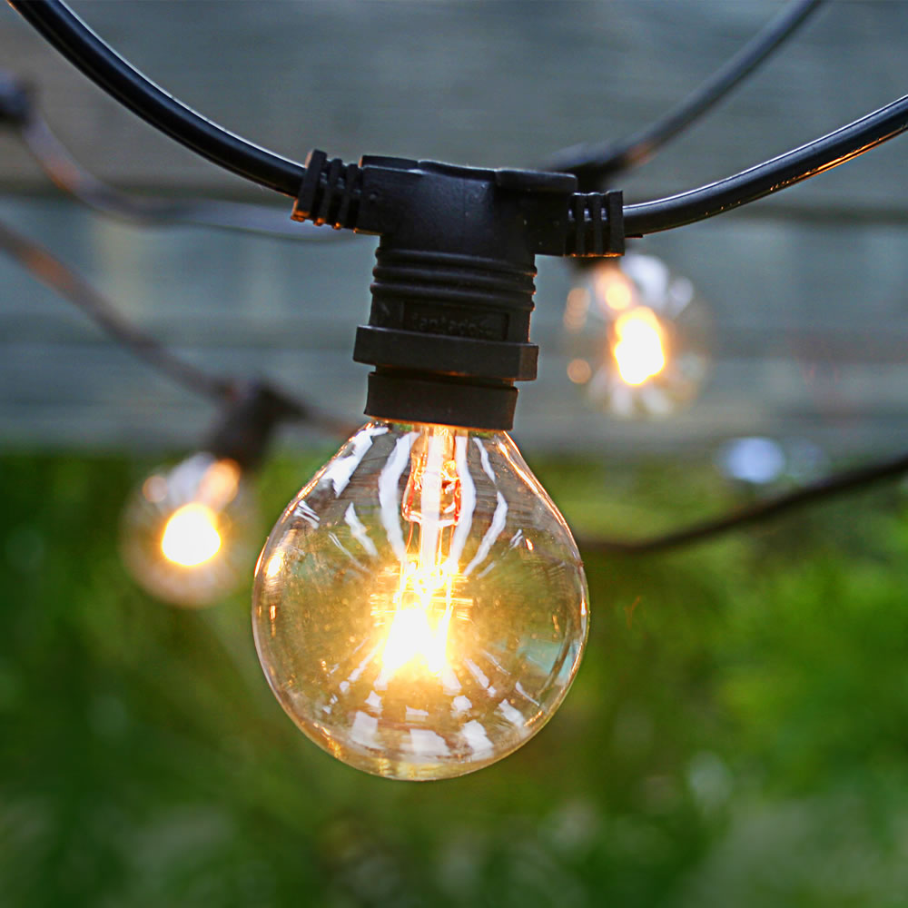 commercial outdoor globe string lights photo - 3