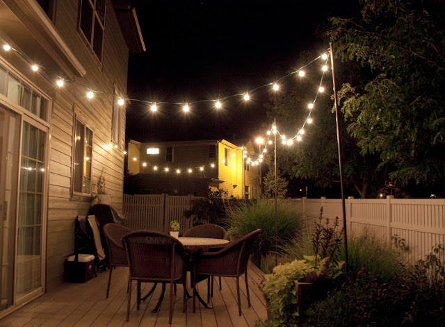 commercial outdoor globe string lights photo - 4