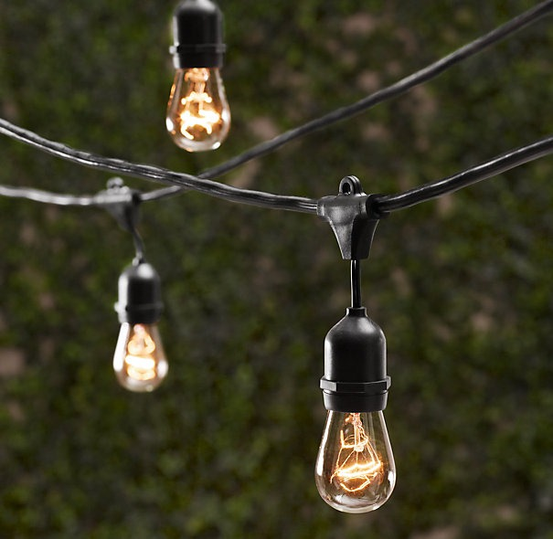 commercial outdoor globe string lights photo - 8