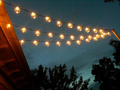 commercial outdoor globe string lights photo - 9