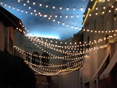 commercial outdoor patio string lights photo - 10