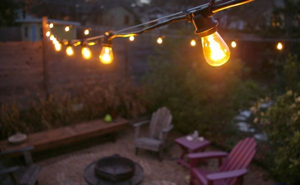 commercial outdoor patio string lights photo - 2