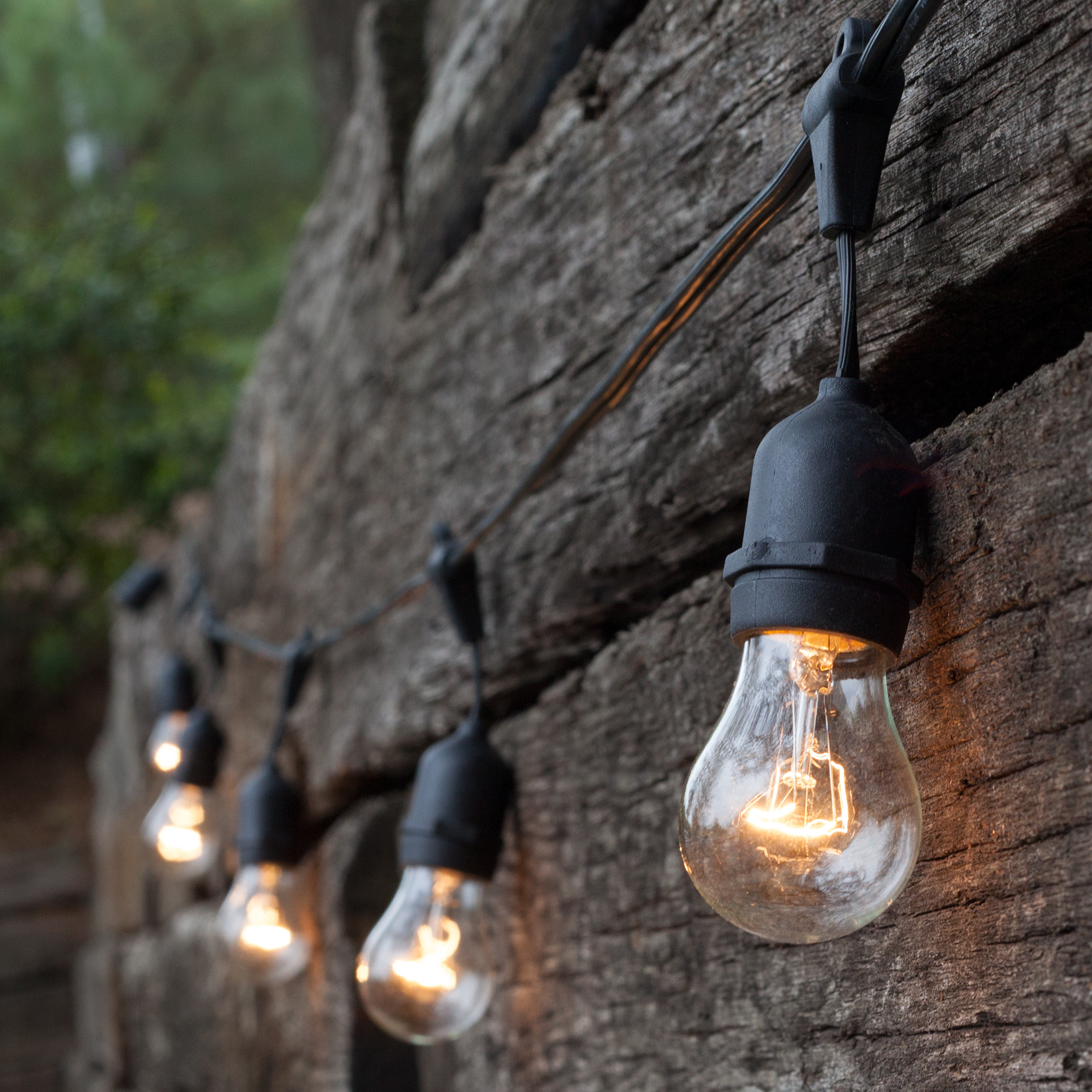 commercial outdoor patio string lights photo - 4