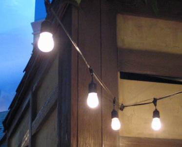 commercial outdoor patio string lights photo - 7