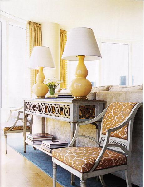 Console Table With Lamps: console table lamps photo - 1,Lighting