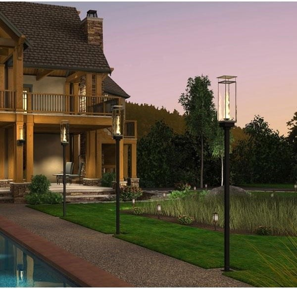 contemporary outdoor post lighting photo - 6