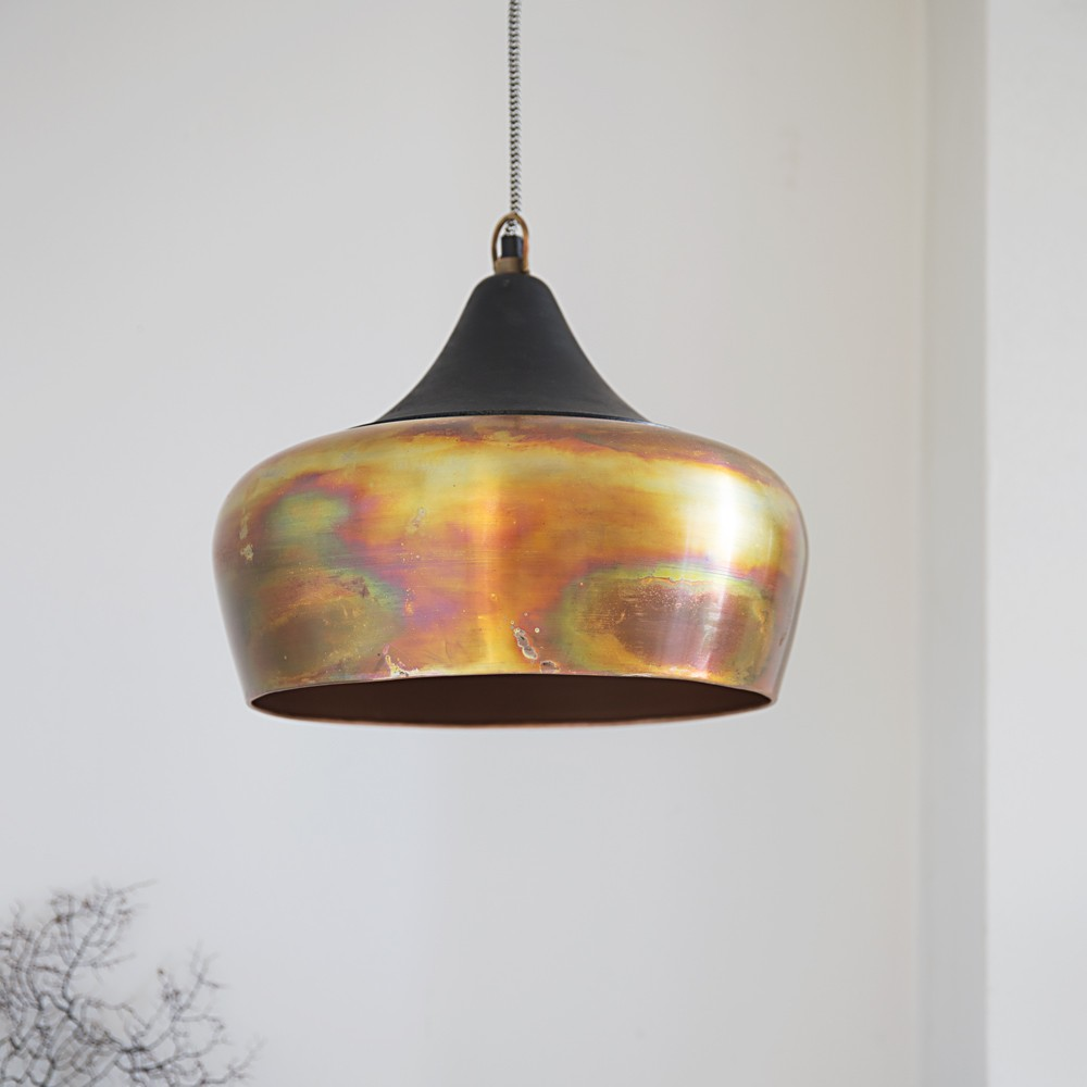 copper pendant ceiling light photo - 5