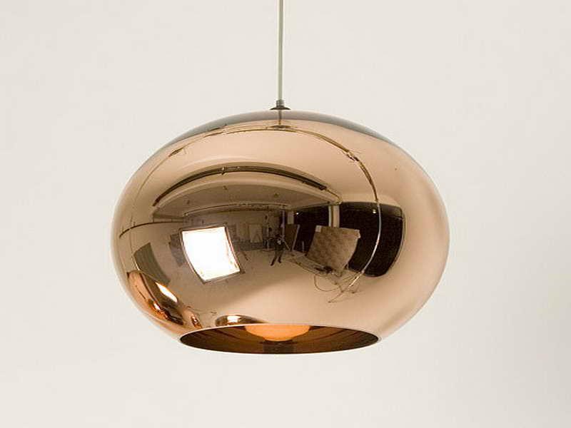 copper pendant lamp photo - 3