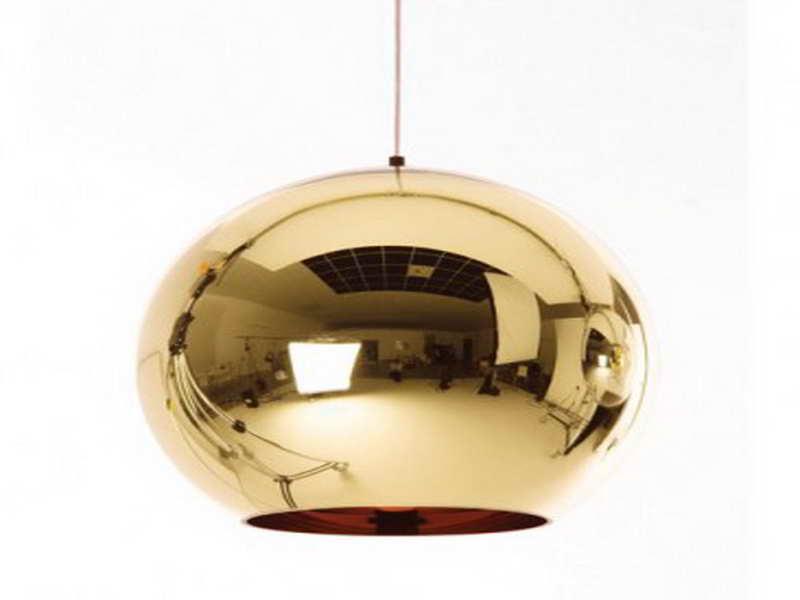 copper pendant lamp photo - 5